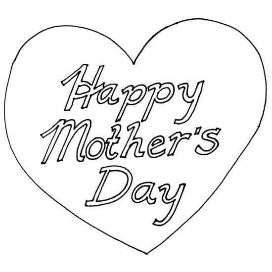Happy Mother's Day Coloring Pages