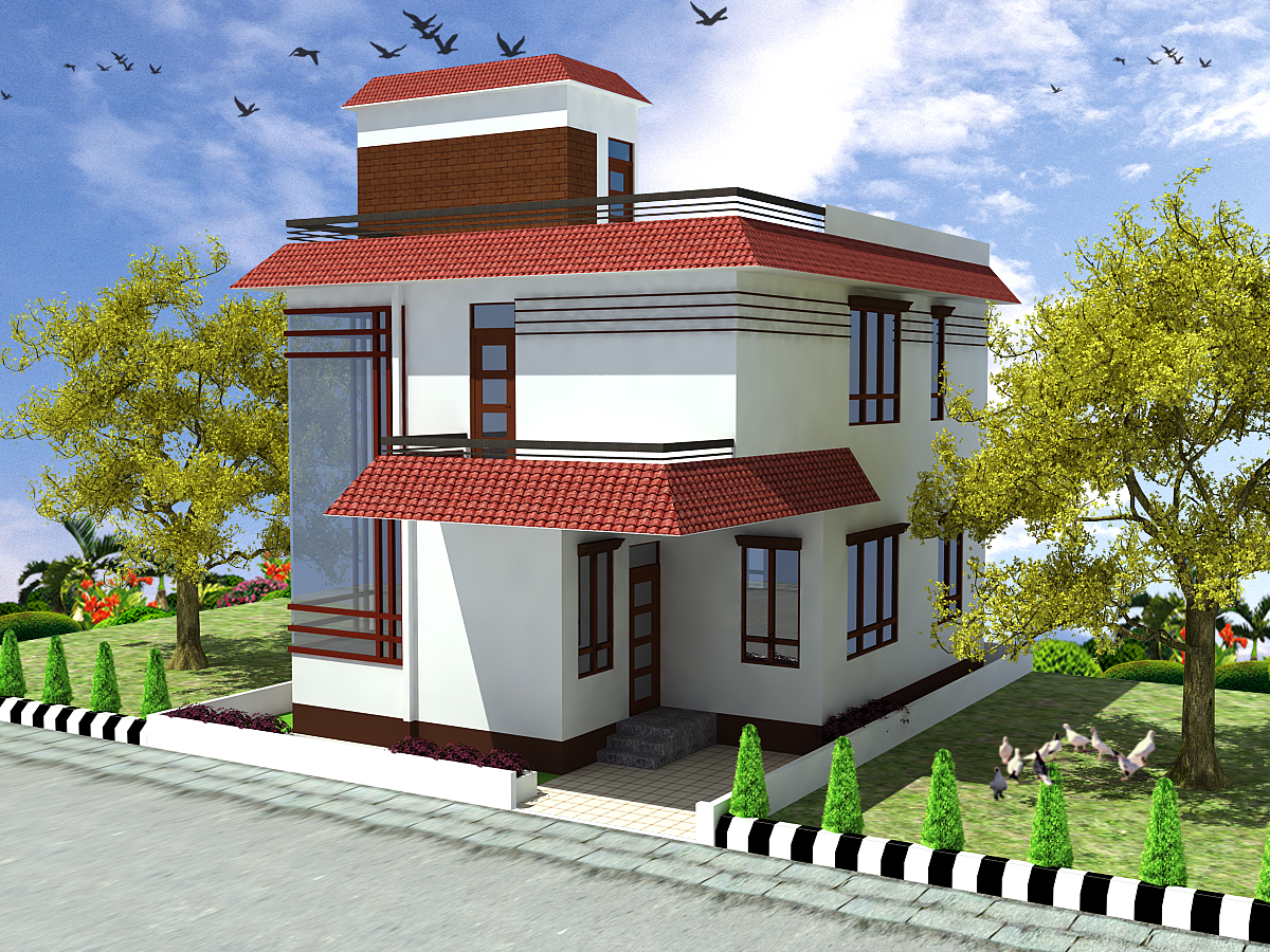 Small duplex house model joy studio design gallery for Duplex house models