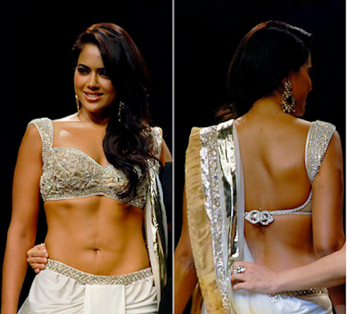Sameera Reddy looks Hot in Backless Dress