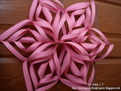 Cards crafts kids projects spectacular paper flower for 3d paper star decoration