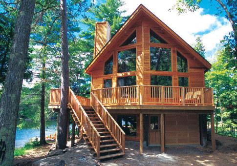 Casas en el bosque taringa for Post and beam ranch homes