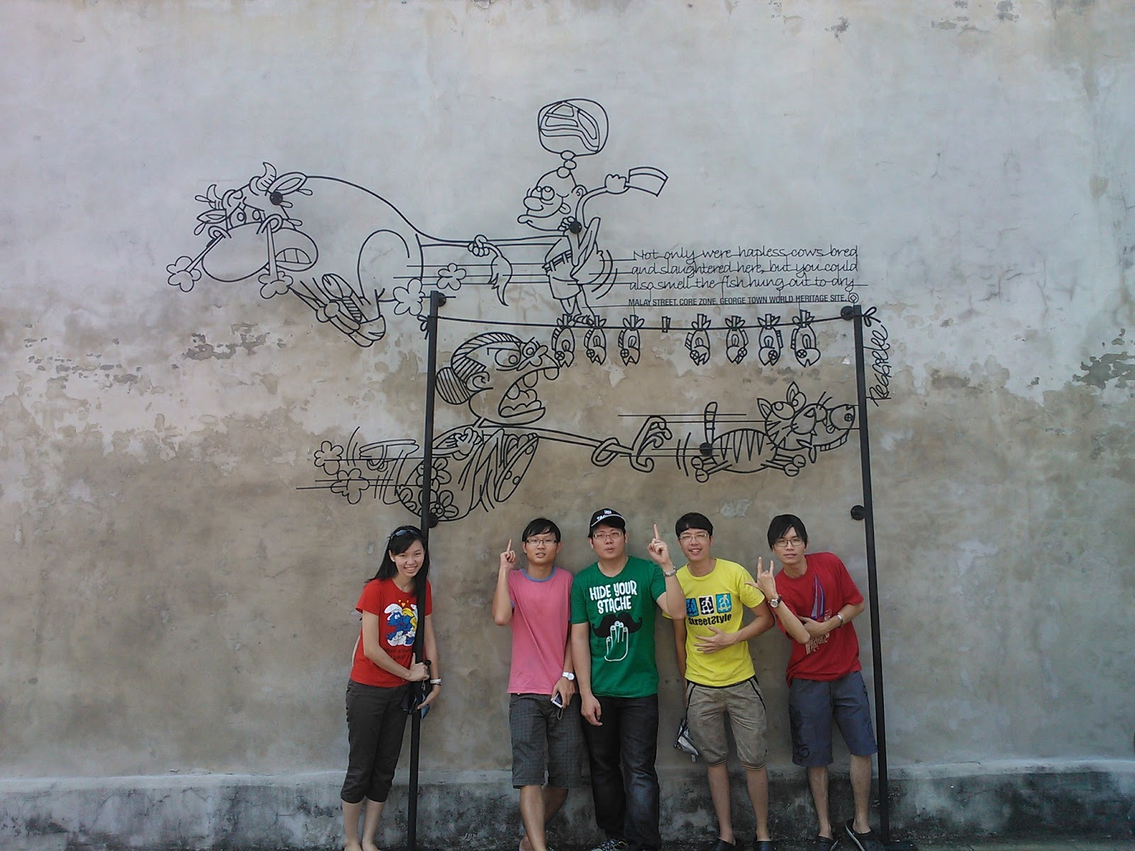 Temporary40: Penang Wire Art and Mural
