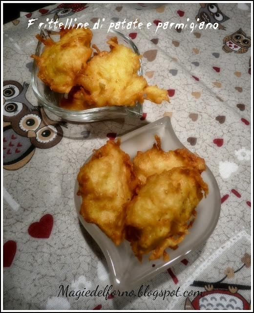 frittelline di patate e parmigiano