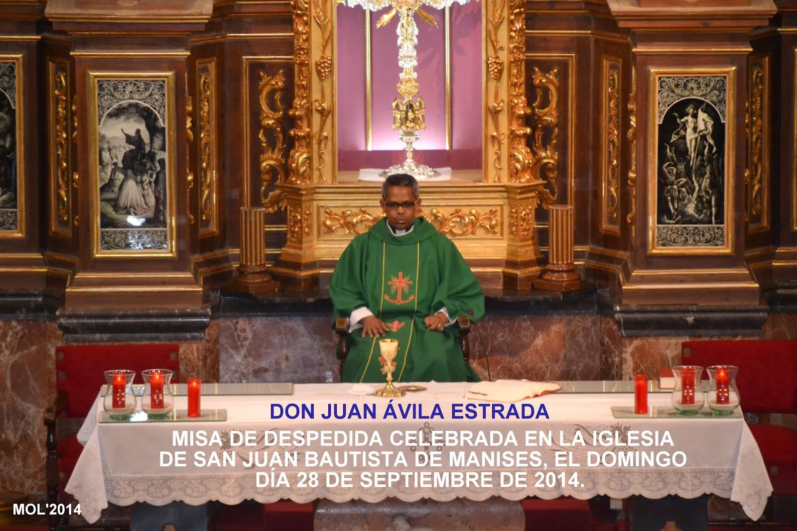 MISA DE DESPEDIDA A DON JUAN ÁVILA ESTRADA