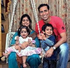 V.V.S. Laxman With Family Pictures