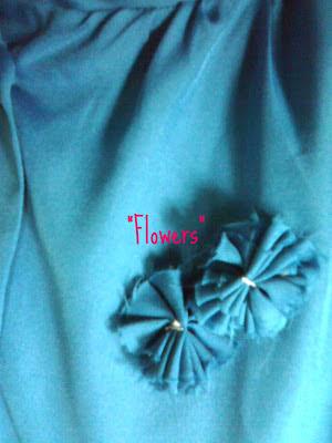 diy blouse flowers
