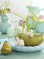 Свежа украса за дома за Великден в синьо