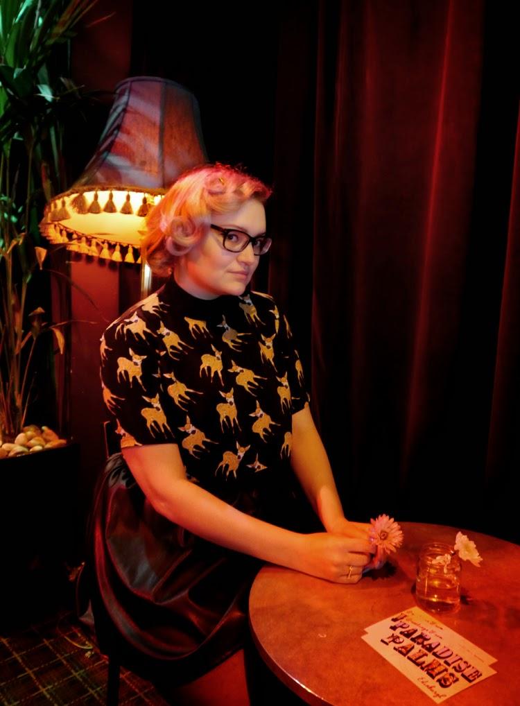 paradise, palms, speak easy, Edinburgh, Oh My Love London, Topshop, retro hair, soft curl