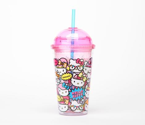 pizza-kei cute pizza kei cute hello kitty new sanrio sanrio.com strawberry collection harajuku kawaii collection plush doll pastel japan japanese mascot dolls aya keiko mika namie yui fashion j-fashion travel mug cup coffee starbucks