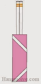 Bước 9: Hoàn thành cách xếp túi giấy đựng đũa đơn giản.