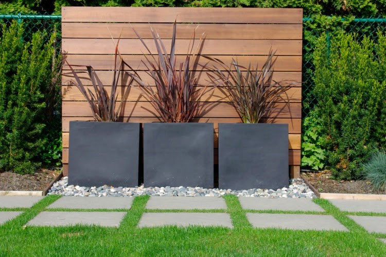 modern garden design examples - planters as accent | houzz home, Best garten ideen