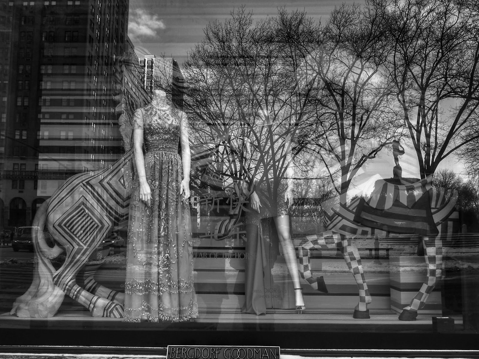The Year of the Horse in Black & White  #BGWindows #NYC 2013