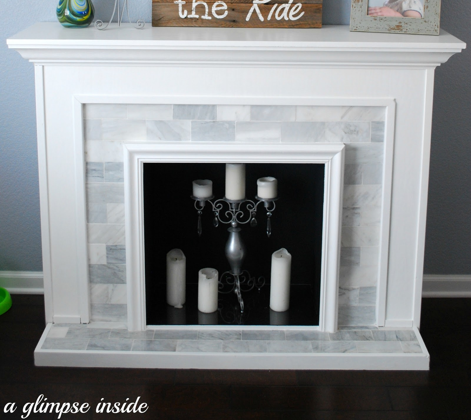 Paint For Inside Of Fireplace A Glimpse Inside Faux Fireplace Makeover