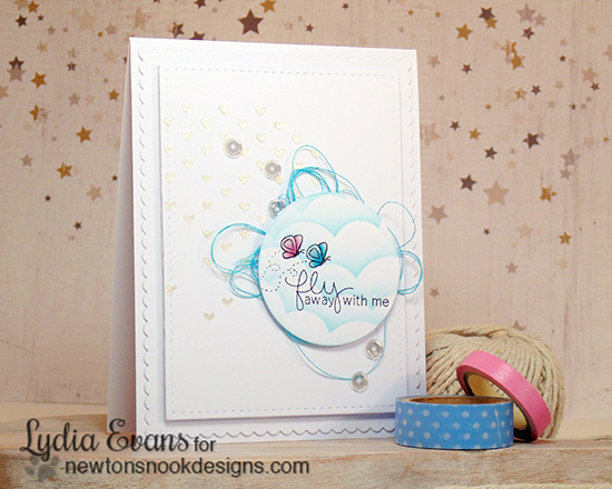 Fly away with me Card by Lydia Evans | Delightful Doxies Stamp set by Newton's Nook Designs