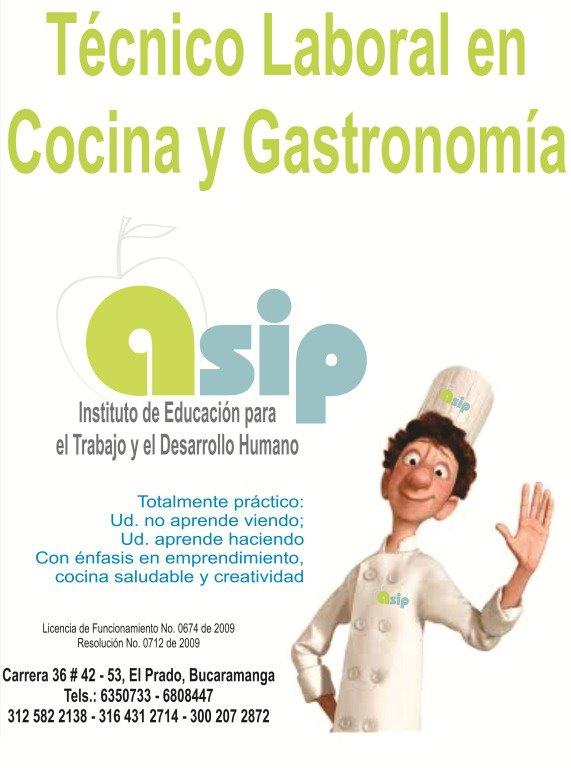 Bolet n de ofertas asip escuela de cocina y gastronom a - Tecnico en cocina y gastronomia ...