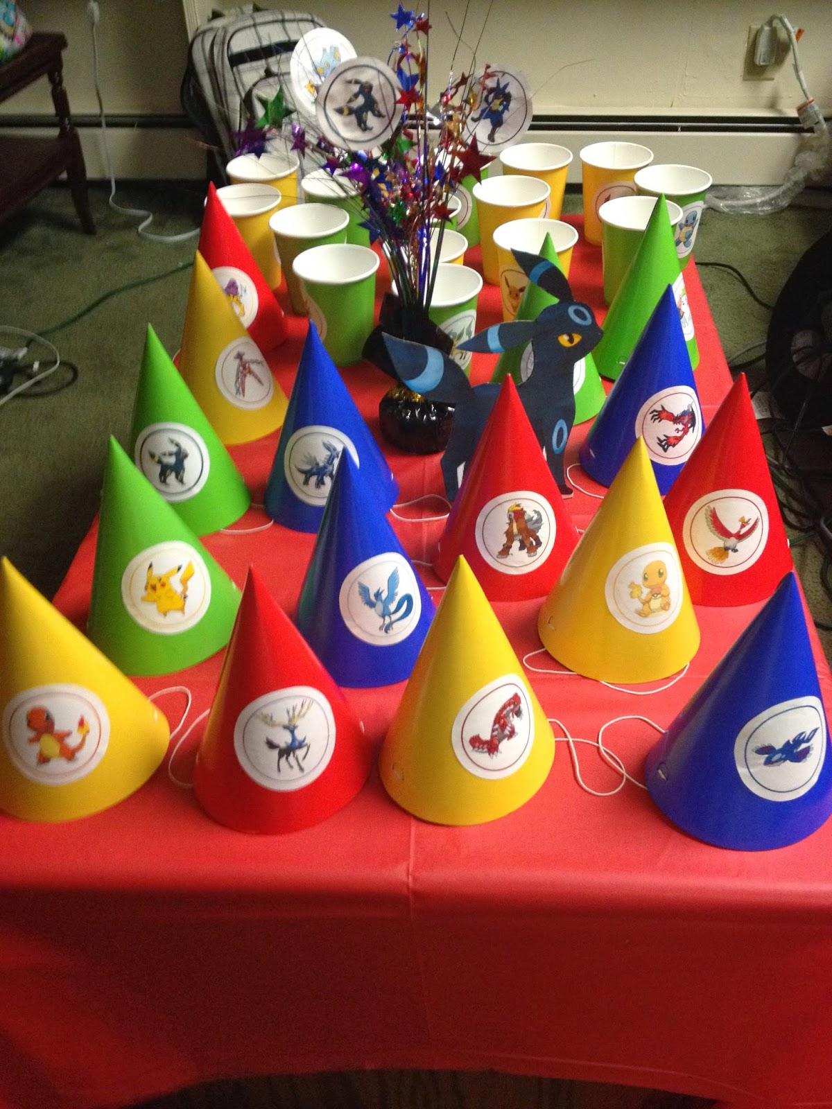 DIY Crafting It Myself Pokemon Birthday Party