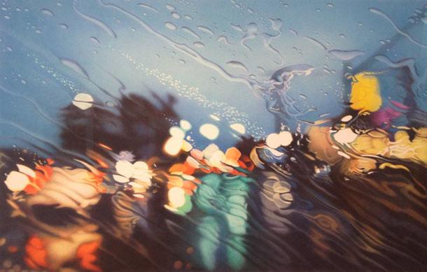 pintura hiper-realista de Elizabeth Patterson - À chuva