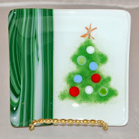 small Christmas plate with mica star