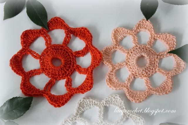 Lacy Crochet Crochet Flower Applique