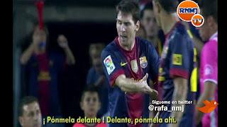 """Bronca de Messi a Villa: """"¡Pónmela delante! ¡delante!, ¡pónmela ahí!"""""""