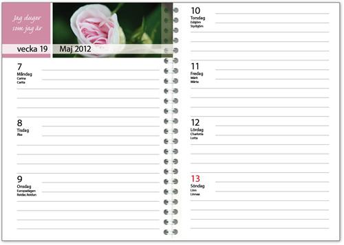 Almanackor: Veckokalender med affirmationer