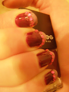 nail art rihnestones french manicure