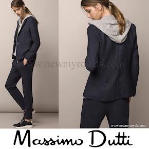 Crown Princess Mary Style MASSIMO DUTTI Polka Dot Printed Jacket
