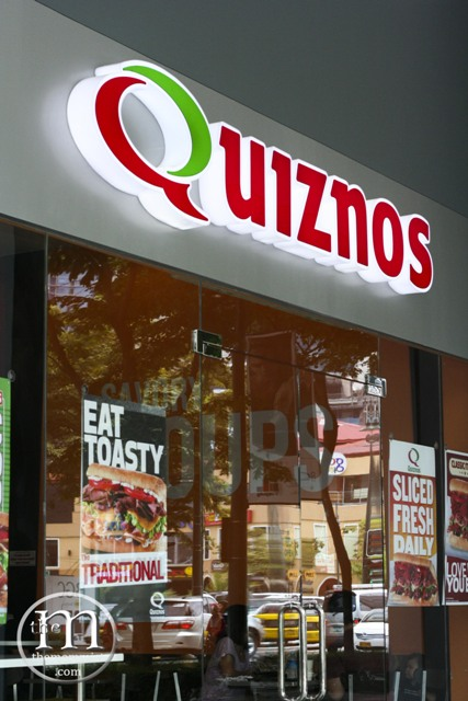 Quiznos facade at One Parkade Bonifacio High Street