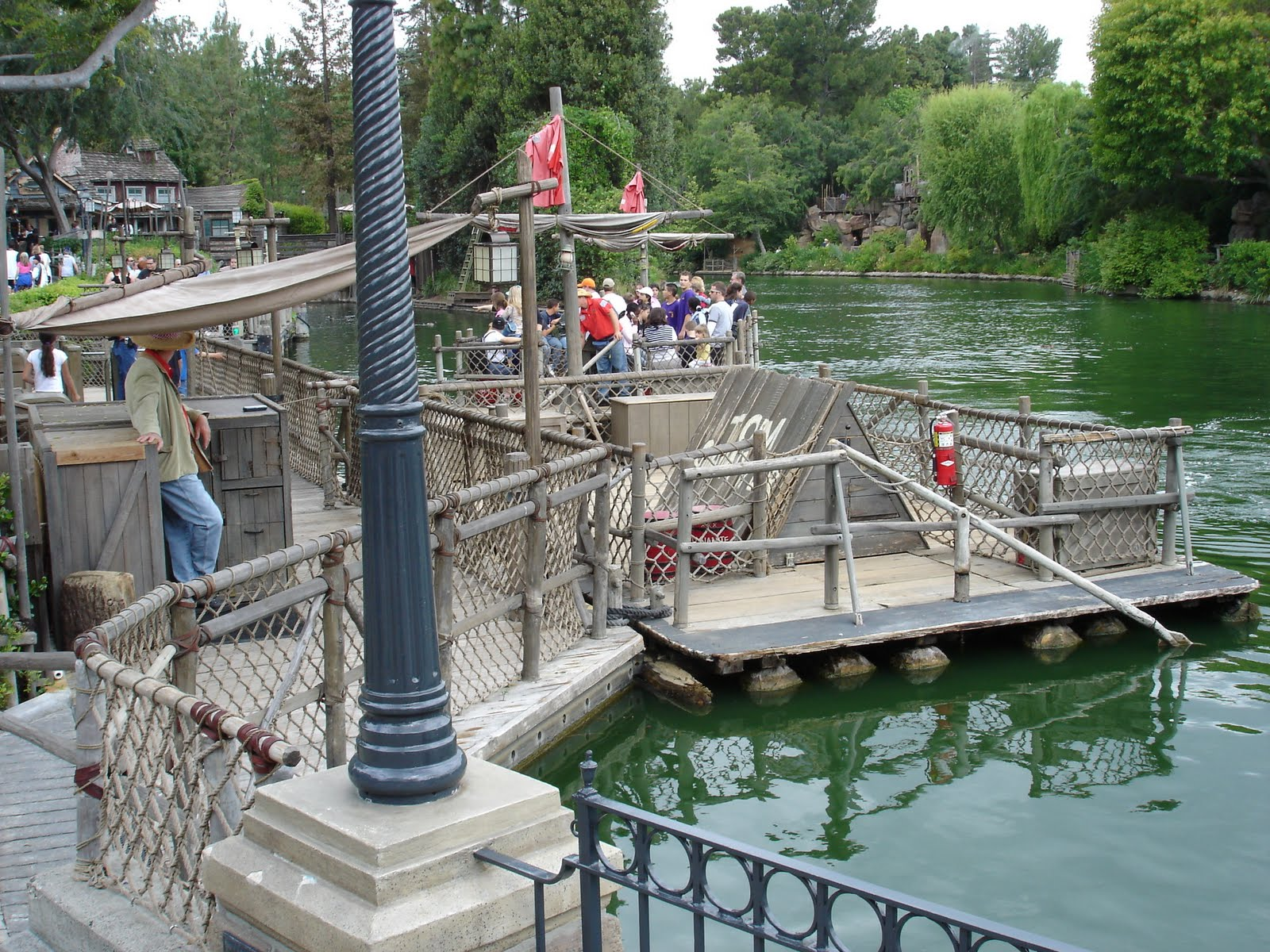 yesterday tomorrow and fantasy tom sawyer island part 1 the landing for the rafts to tom sawyer s island