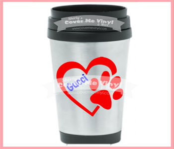 Paw Heart Stainless Steel Tumbler