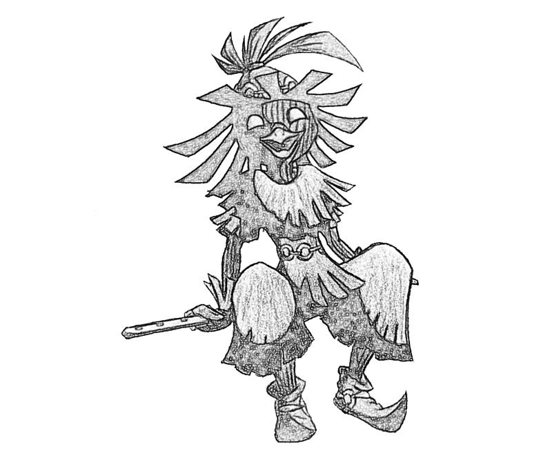 skull-kid-sketch-coloring-pages