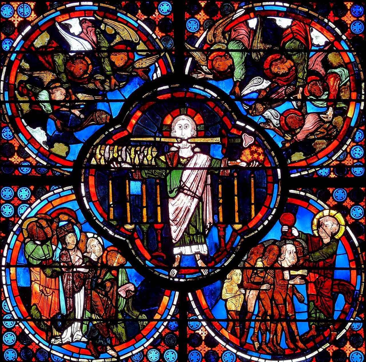 Bourges: os mais belos vitrais tornavam fáceis as mais altas verdades da Fé Vitral do Apocalipse