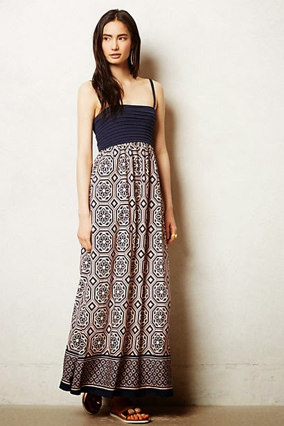Carreau maxi dress