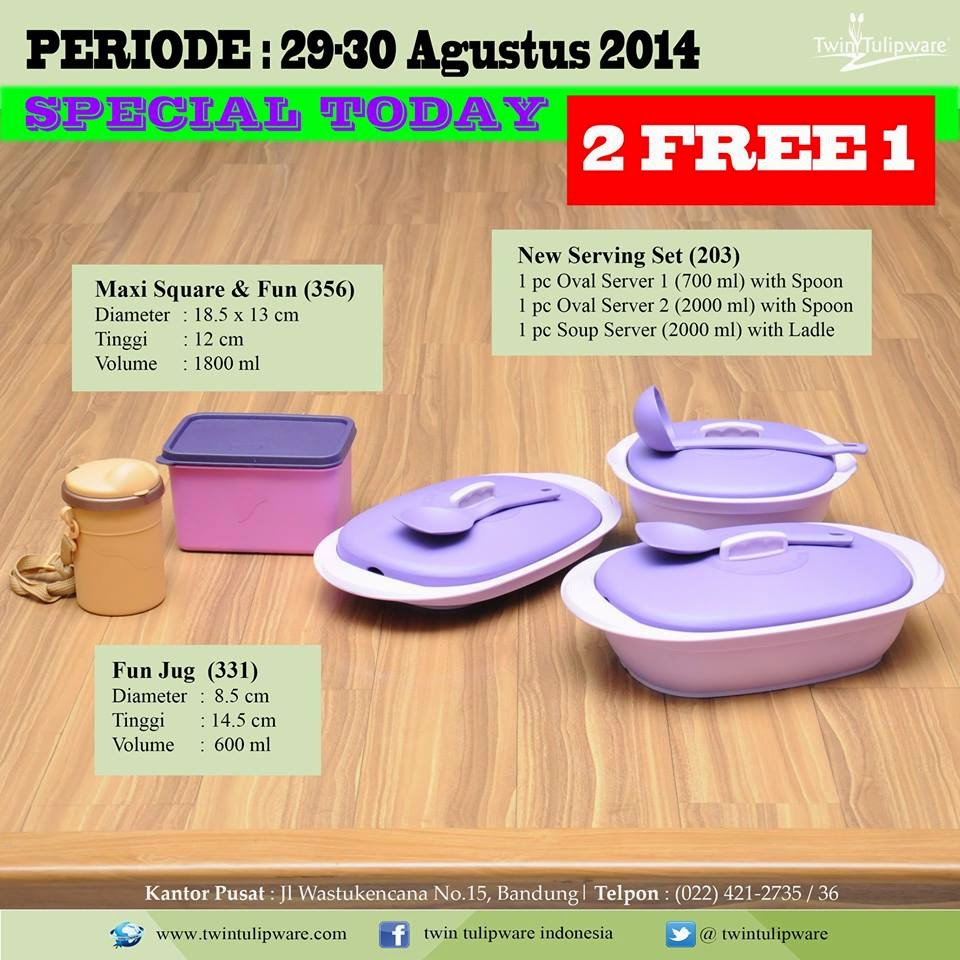Promo TUlipware 29 dan 30 Agustus 2014