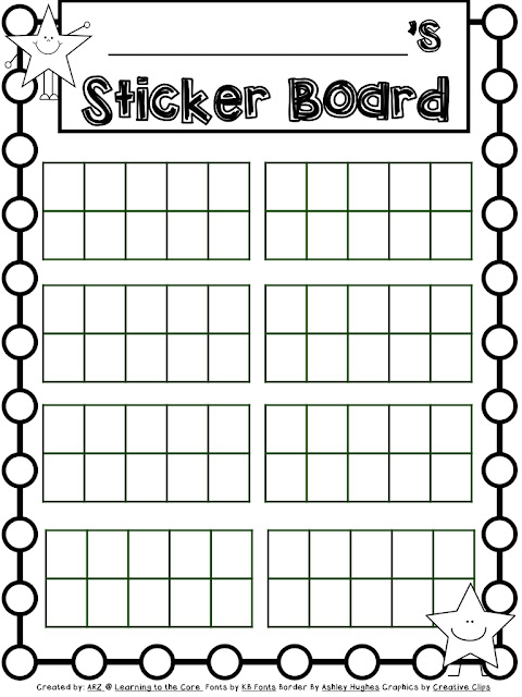 Blank Sticker Chart. Sunshine Reward Chart Reward Charts Sticker