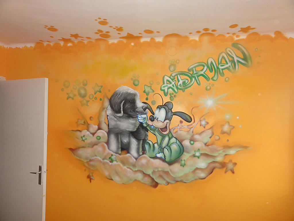 Berok graffiti mural profesional en barcelona fotos - Dibujos para habitaciones de bebes ...