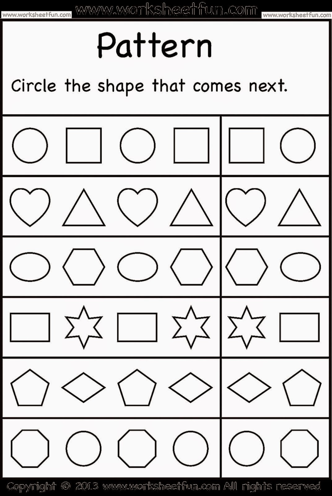 Printable Preschool Worksheets : Kindergarten worksheets free coloring sheet