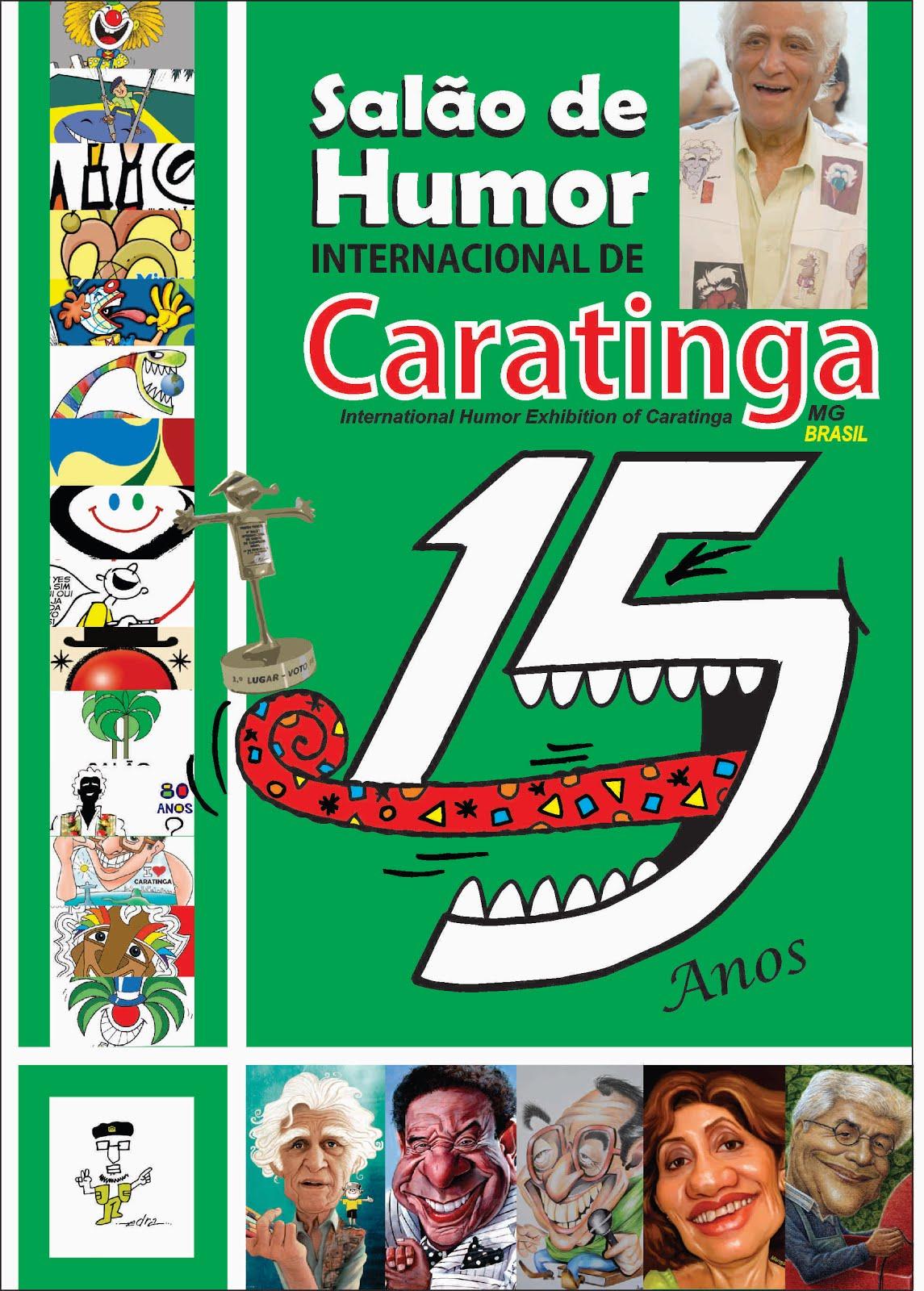 """Livro / Catálogo: """"Salão de Humor Internacional de Caratinga - 15 Anos"""""""