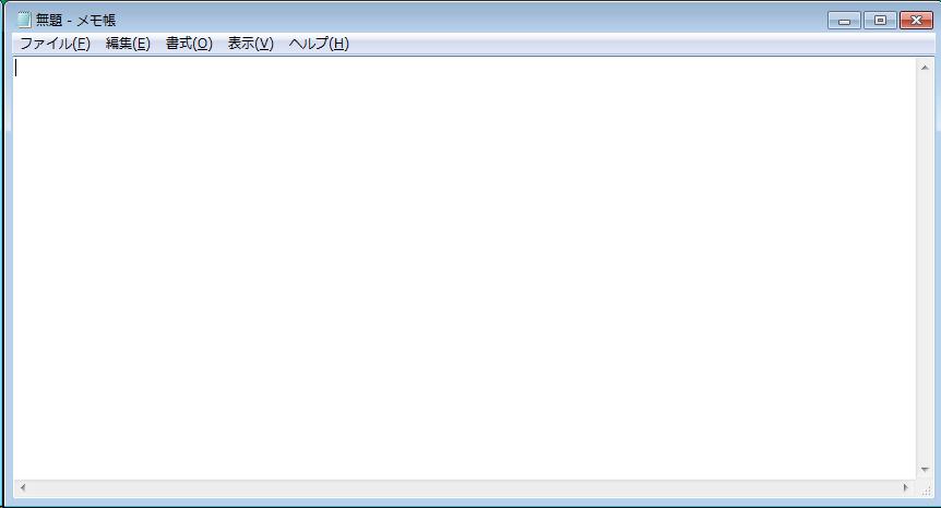 リモートデスクトップ接続先のメモ帳のウィンドウのみを 「Alt + PrintScreen」でキャプチャしたもの ウィンドウの右端が、画像の左端に回り込んでいる