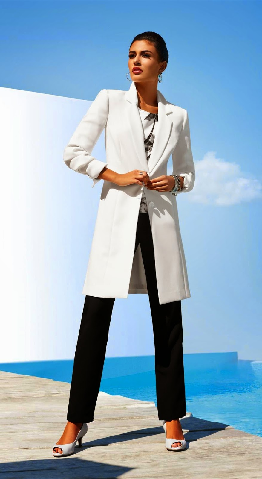 Madeleine Coat in Wool White