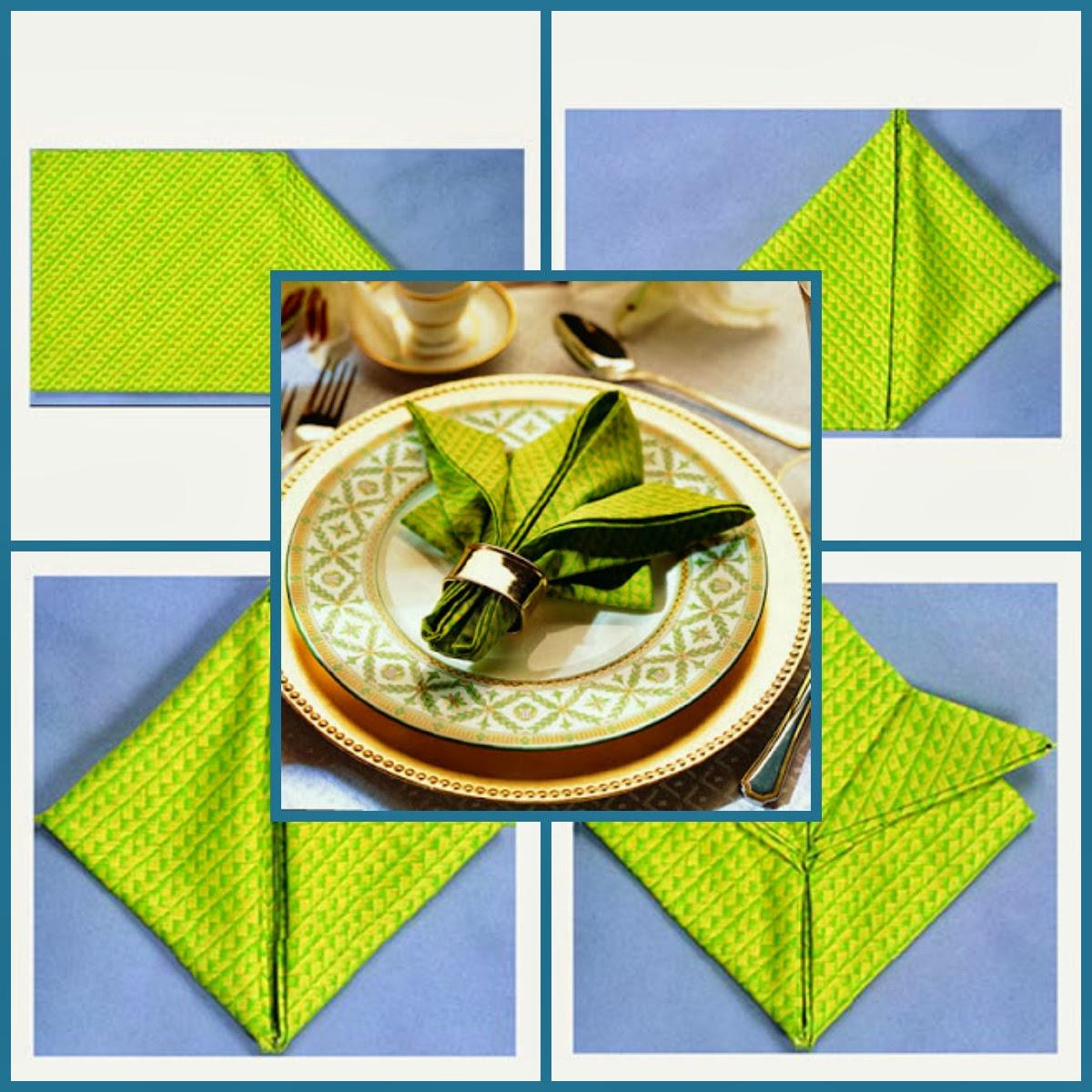 Как сложить салфетки для сервировки пошаговое фото