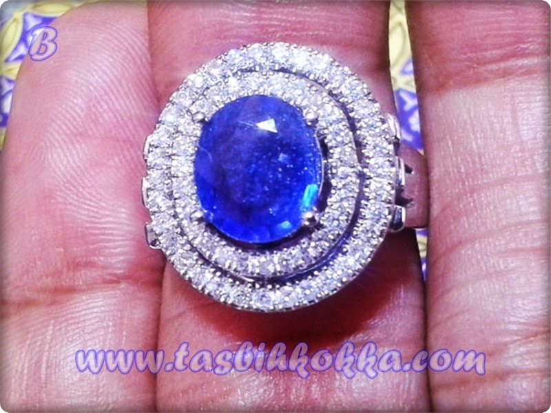 Blue Saphire Afrika Berlian