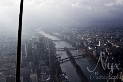 The view north along the Siene, from the Eiffel Tower