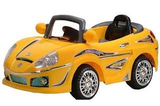 a ride in kiddie car