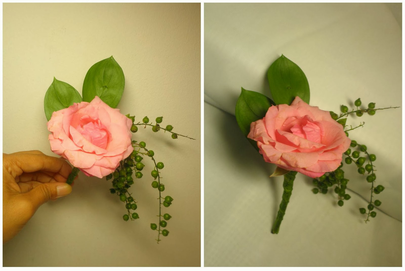 buttonhole-pink rose