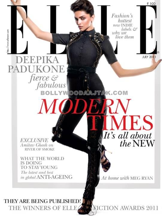 Deepika Padukone Elle Magazine Hot Photoshoot Pics