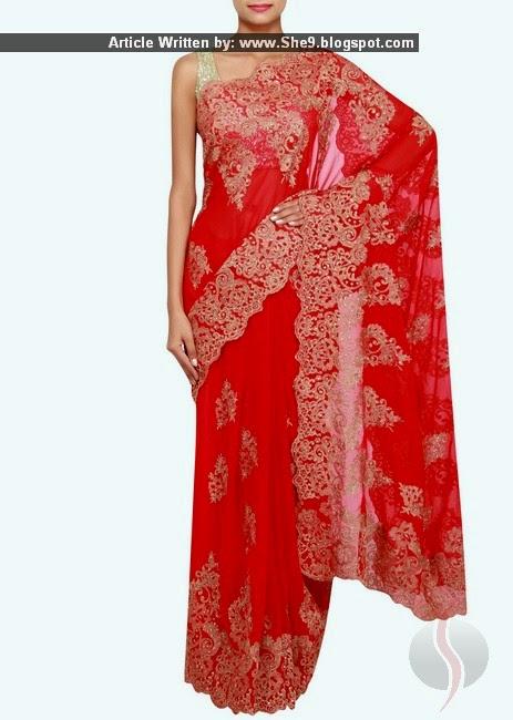 Indian Chiffon Saree Designs 2015-2016