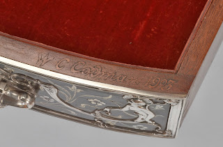 William Codman signature on lady's writing table, Gorham Silver, 1903.