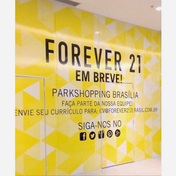 Forever 21 abe vagas de emprego em Brasilia no Parkshopping enviar curriculo