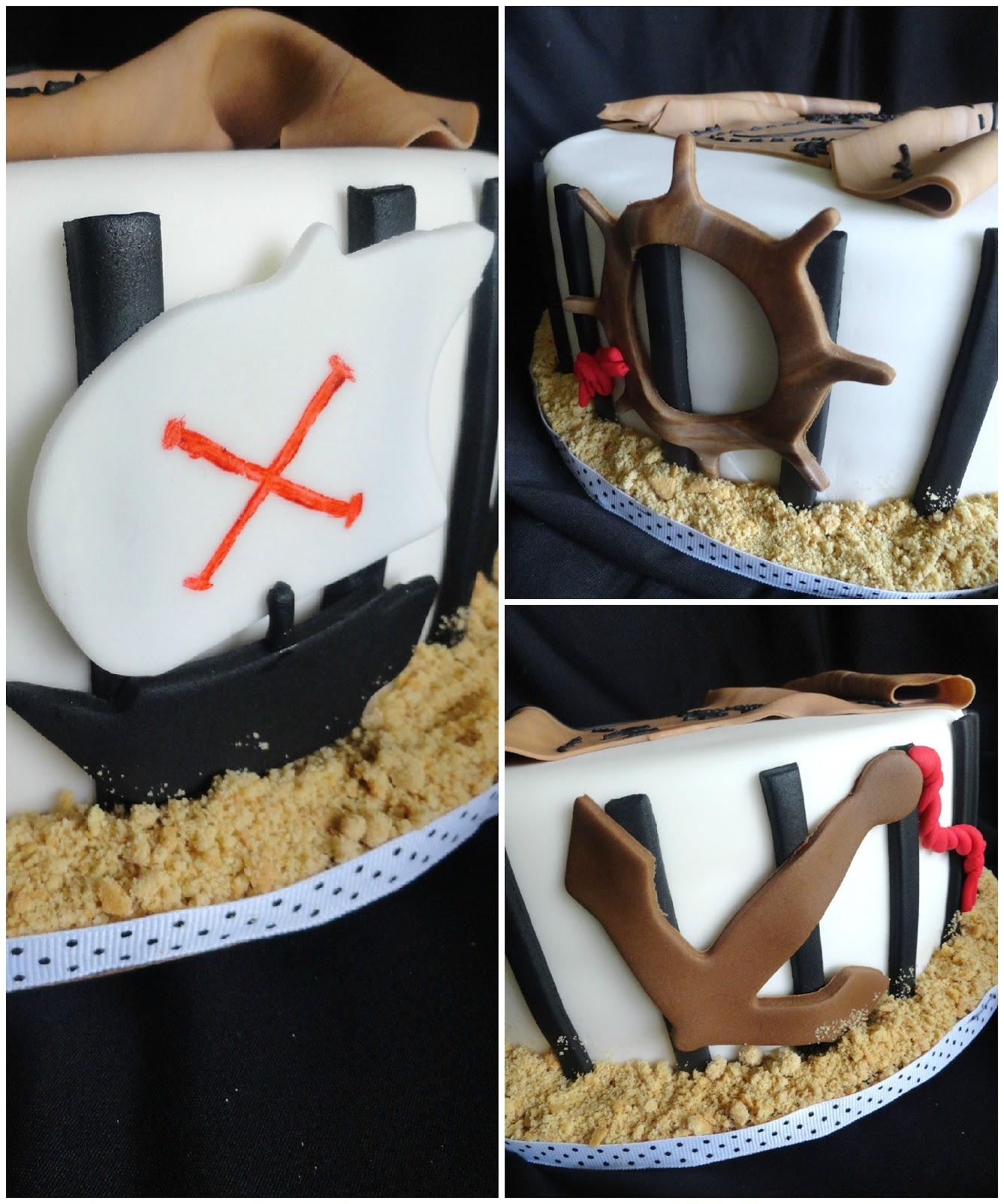 pirate cookie cake